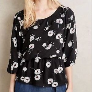 Anthropologie Deleta Wished Bloom top Small